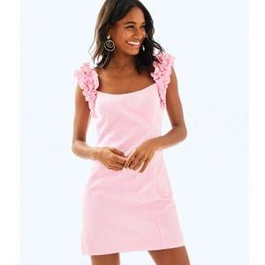 """Lilly Pulitzer """"Devina"""" Pink Seersucker Dress"""